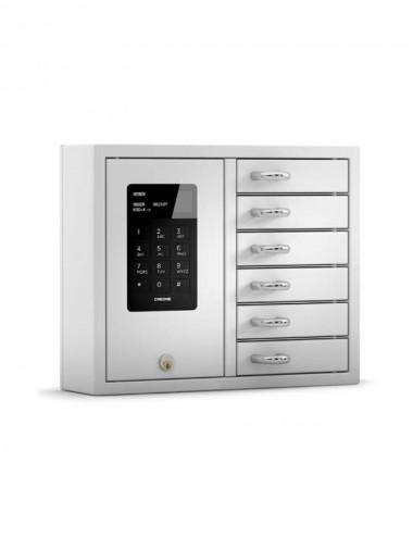 Armoire à clés 6 casiers 9006 S, KB System