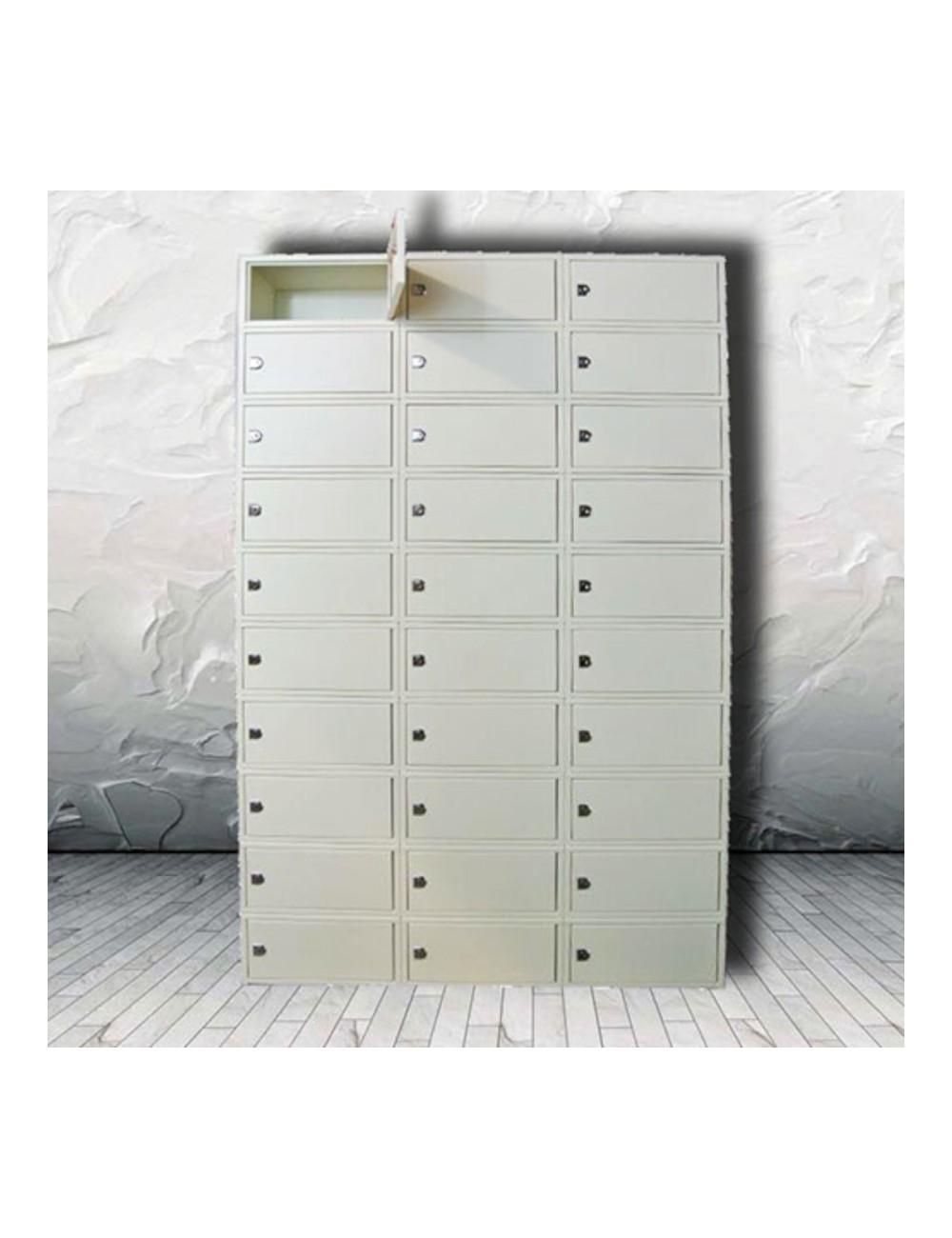 Armoire 30 casiers fermeture des portes à clefs KEYSAFE