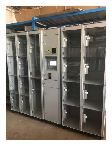Armoire 8 casiers avec portes transparentes