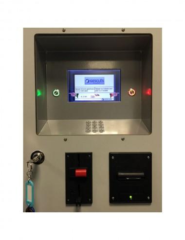 Pupitre intégré écran TFT avec monnayeur et mini imprimante