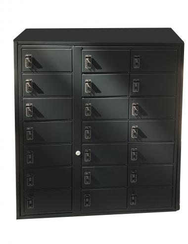 Armoire 30 casiers avec fermeture individuelle à code mécanique
